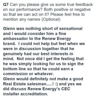 renew energy solar reviews testimonials perth alkimos g griffin