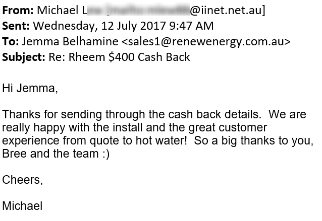 renew energy solar reviews testimonials michael bullcreek wa