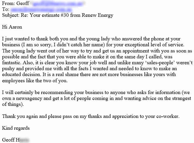 solar power perth renew energy reviews testimonial geoff canning vale
